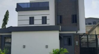 A Luxury furnished 4 Bedroom semi-detached Duplex on 3 floors in Lekki Phase 1, Lagos.