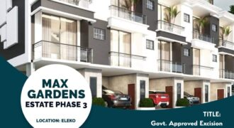 Plots of Land in Max Garden Phase 3 Eleko